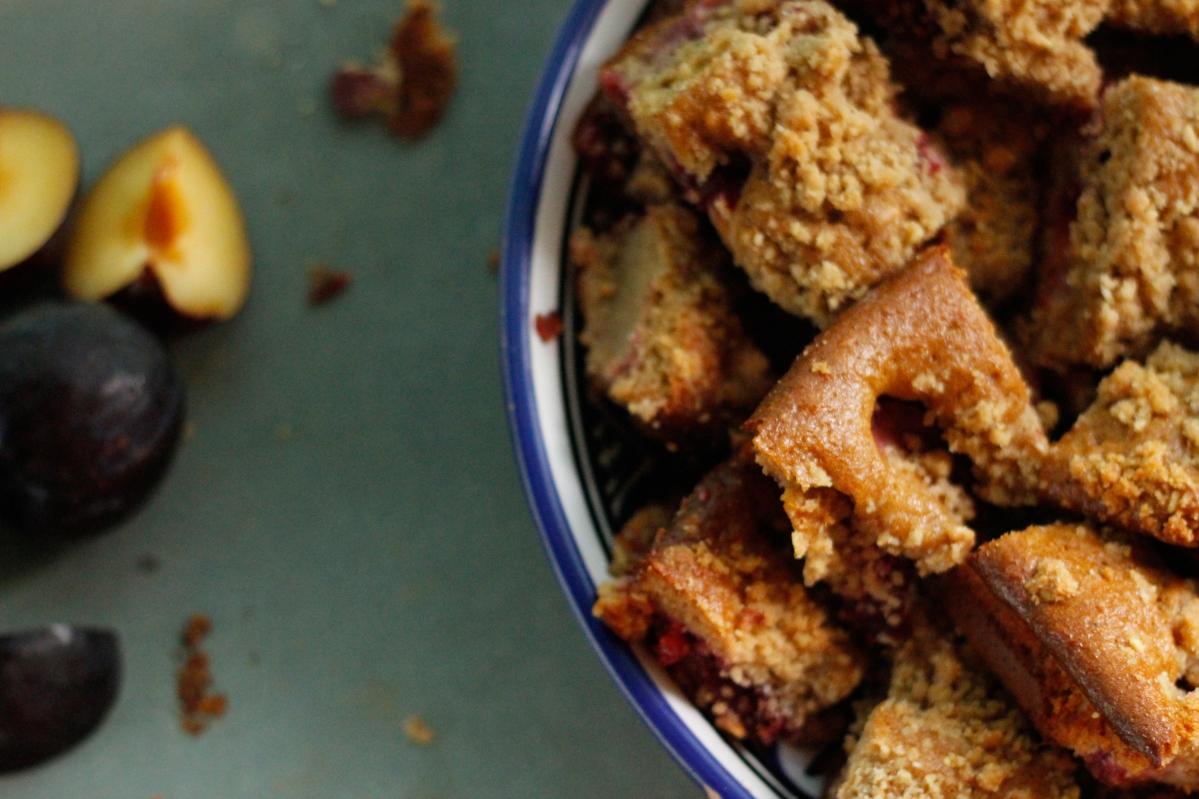 Pflaumenkuchen mit Streuseln - zuckerfrei